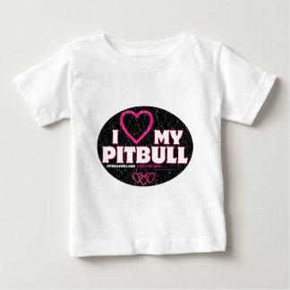 I LOVE MY PITBULL Circle Of Love Baby T-Shirt
