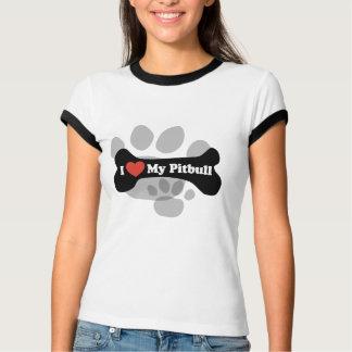 I Love My Pitbull - Dog Bone T-Shirt