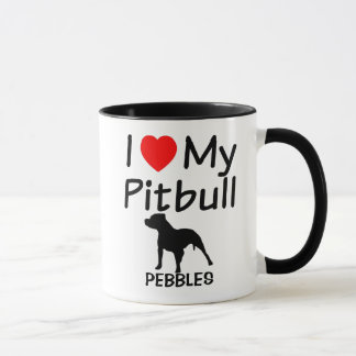 I Love My Pitbull Dog Mug