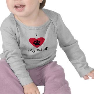 I Love My Pitbull Infant Long-Sleeve T-Shirt