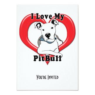 I Love My PitBull Logo Personalized Announcement