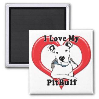 I Love My PitBull Logo Magnet