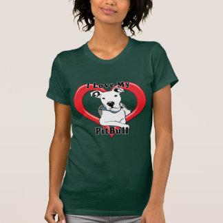 I Love My PitBull Logo T Shirt