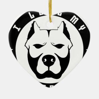 I LOVE MY PITBULL PIT BULL pet dog breed Christmas Ornament