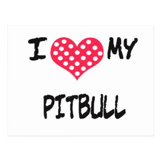 I love my Pitbull Postcard