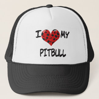 I love my Pitbull Trucker Hat