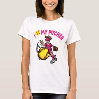 I love my pitcher, pink T-Shirt