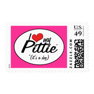 I Love My Pittie (It's a Dog) Stamps