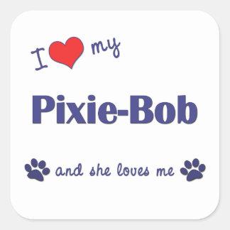 I Love My Pixie-Bob Female Cat Sticker