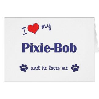 I Love My Pixie-Bob Male Cat Cards