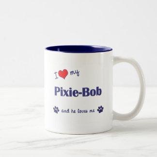 I Love My Pixie-Bob (Male Cat) Two-Tone Coffee Mug