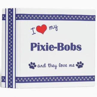 I Love My Pixie-Bobs Multiple Cats Binders