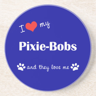 I Love My Pixie-Bobs Multiple Cats Coasters