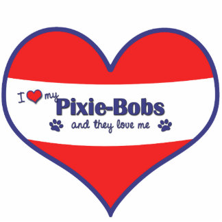 I Love My Pixie-Bobs Multiple Cats Photo Cut Out