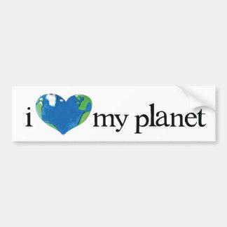 i love my planet bumper sticker
