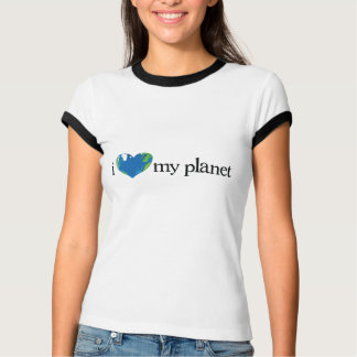 i love my planet ladies t-shirt