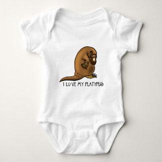 I Love my Platypus Baby Bodysuit
