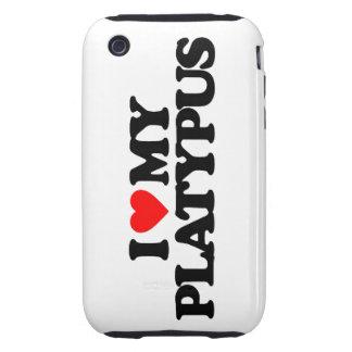 I LOVE MY PLATYPUS TOUGH iPhone 3 CASE