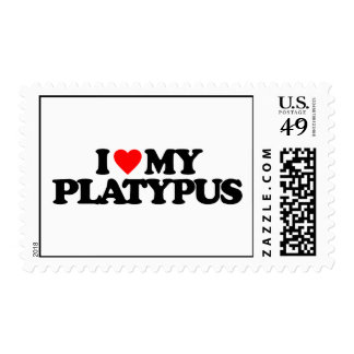 I LOVE MY PLATYPUS STAMPS
