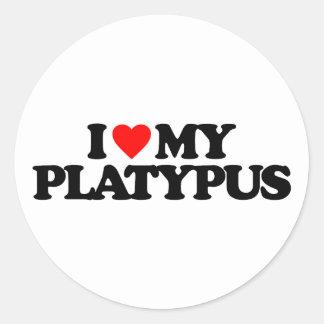 I LOVE MY PLATYPUS STICKERS