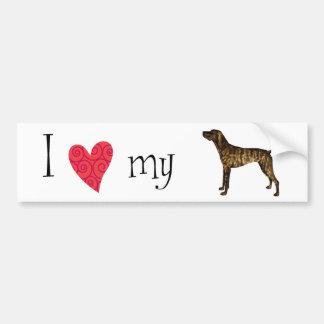 I Love my Plott Bumper Sticker