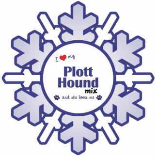 I Love My Plott Hound Mix (Female Dog) Photo Sculpture