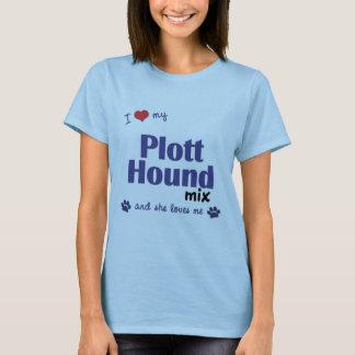 I Love My Plott Hound Mix (Female Dog) T-Shirt