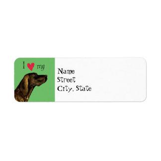 I Love my Plott Return Address Label