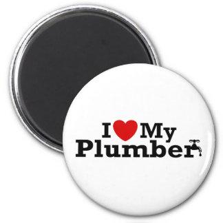 I Love My Plumber Fridge Magnets