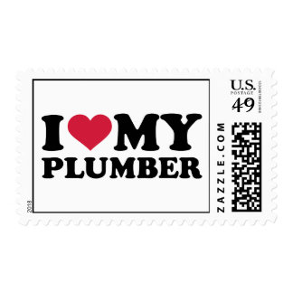 I love my Plumber Postage Stamp