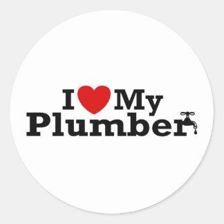 I Love My Plumber Sticker