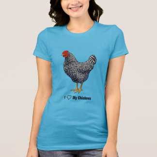 I Love My Plymouth Rock Chicken Farmer T-Shirt