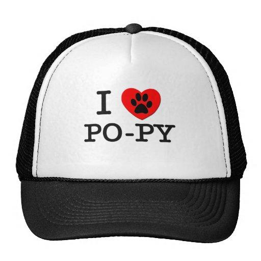 I LOVE MY PO-PY TRUCKER HAT