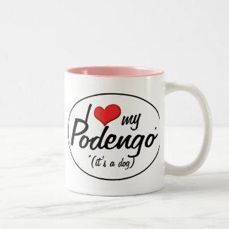 I Love My Podengo (It's a Dog) Two-Tone Coffee Mug