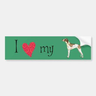 I Love my Pointer Bumper Sticker