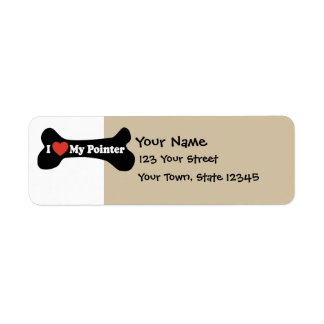 I Love My Pointer - Dog Bone Custom Return Address Label