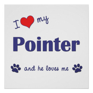 I Love My Pointer (Male Dog) Poster