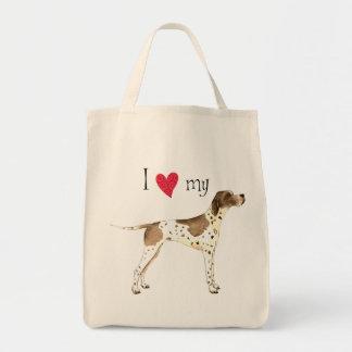 I Love my Pointer Tote Bag