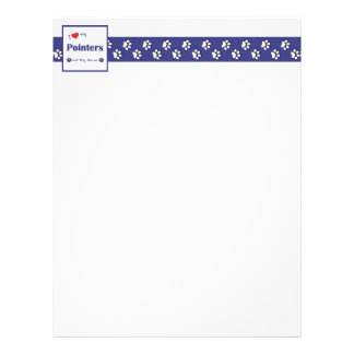 I Love My Pointers (Multiple Dogs) Letterhead Template