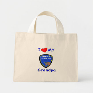 I Love My Police Grandpa Mini Tote Bag