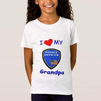 I Love My Police Grandpa T-Shirt