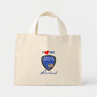 I Love My Police Husband Tote Bag