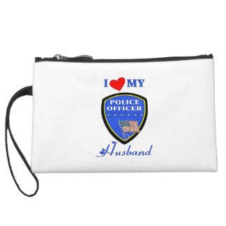 I Love My Police Husband Wristlet Purse