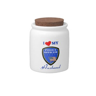 I Love My Police Husband Candy Jar