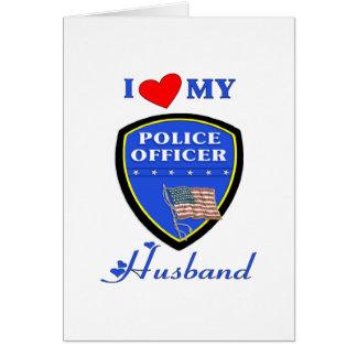 I Love My Police Husband Greeting Cards