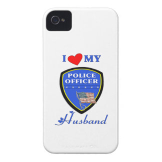 I Love My Police Husband iPhone 4 Cases
