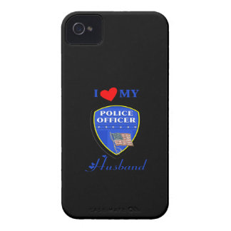 I Love My Police Husband Case-Mate iPhone 4 Cases