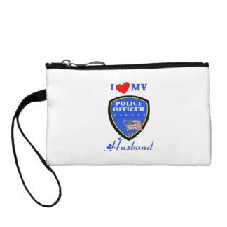 I Love My Police Husband Change Purse