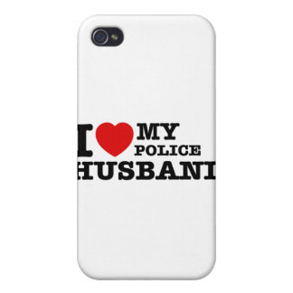 I love my police husband case for iPhone 4