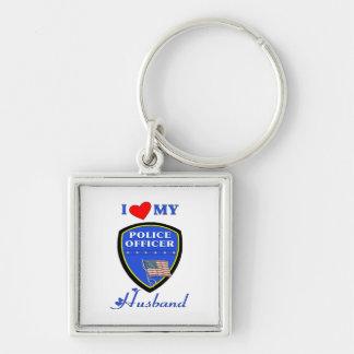 I Love My Police Husband Keychain